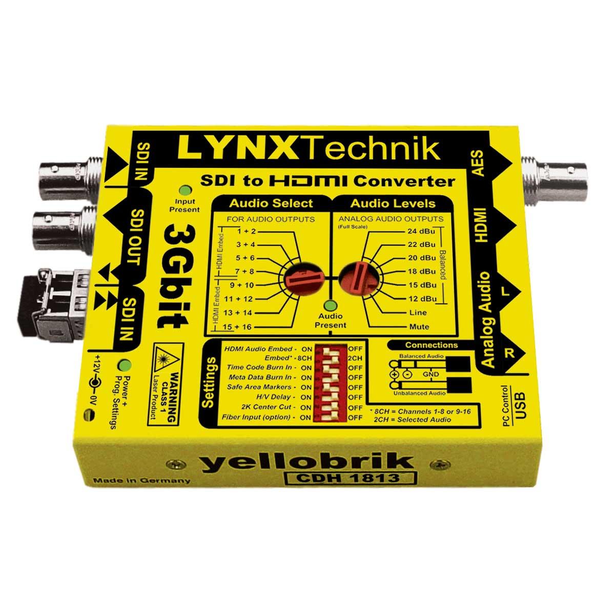 CDH 1813 yellobrik SDI to HDMI Converter