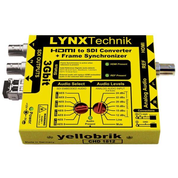 CHD 1812 yellobrik HDMI to SDI converter with Frame Synchronizer