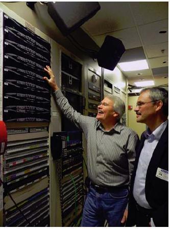 Terry Harvard, Turner Studios and Winfried Deckelmann, CEO LYNX Technik