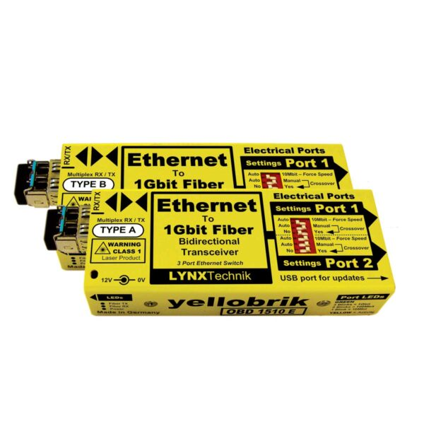 OBD 1510E yellobrik Ethernet Transceiver Set (WDM)